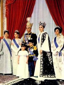 Shaen av Iran m/familie.