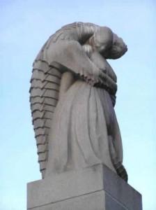 Statue fra Vigelandsparken i Oslo.