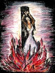 Den maskuline gud elsker krig, og hans budskap har skapt splid mellom mennesker.