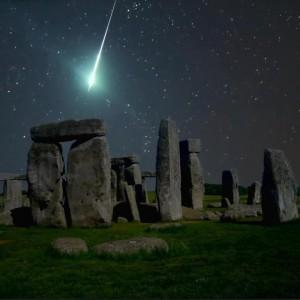 Stonehenge som markør i Storbritannia.
