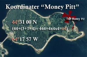 """Merkelige tall dukker opp på koordinatene til """"Money-pitt""""."""