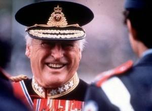 Kong Olav takket for seg 17. januar 1991.