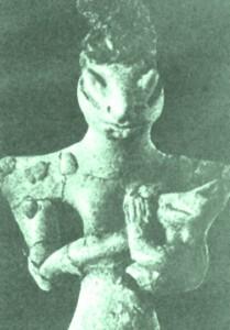 Arkeologisk funn av en humanoid.