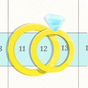 Mange velger å gifte seg på stigende datoer.
