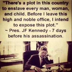 President Kennedy ble drept den 22.11. på den 33. parallell.