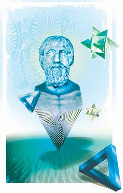 Pythagoras, Numerologiens far var vegetarianer.