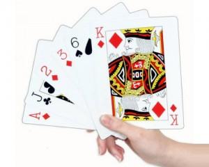 Det er spillkort som benyttes når man spiller f.eks. bridge og poker.
