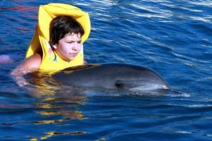 Mange autister opplever forbedring i sin tilstand og blir mer åpen etter å ha vært med delfiner.