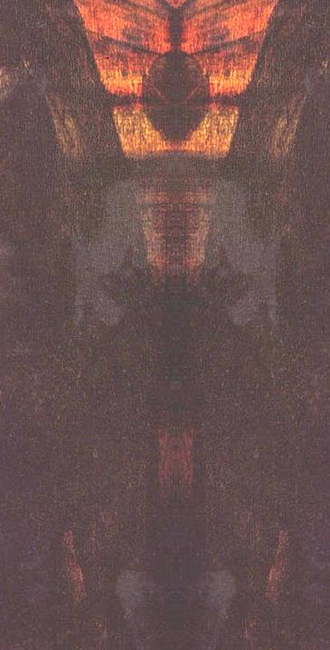 Her er bildet programmet viste som de mener er en utenomjordisk skikkelse som er malt inn i Mona Lisa.