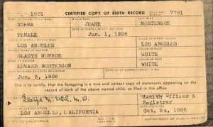 En fødselsattest - eller lastedokument.