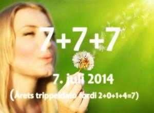 777 var også årets trippeldato i 2014.