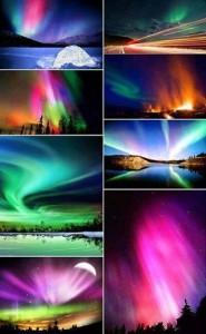 Her prakfulle farger i nordlyset.
