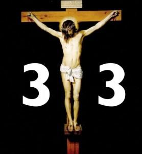 Jesus sies å ha vært 33 år da han døde i år 33 før kristus den 3. april