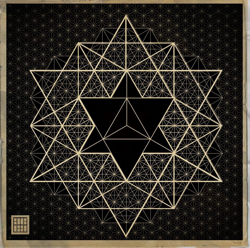 3,3x3x3 geometrisk fremstilt.