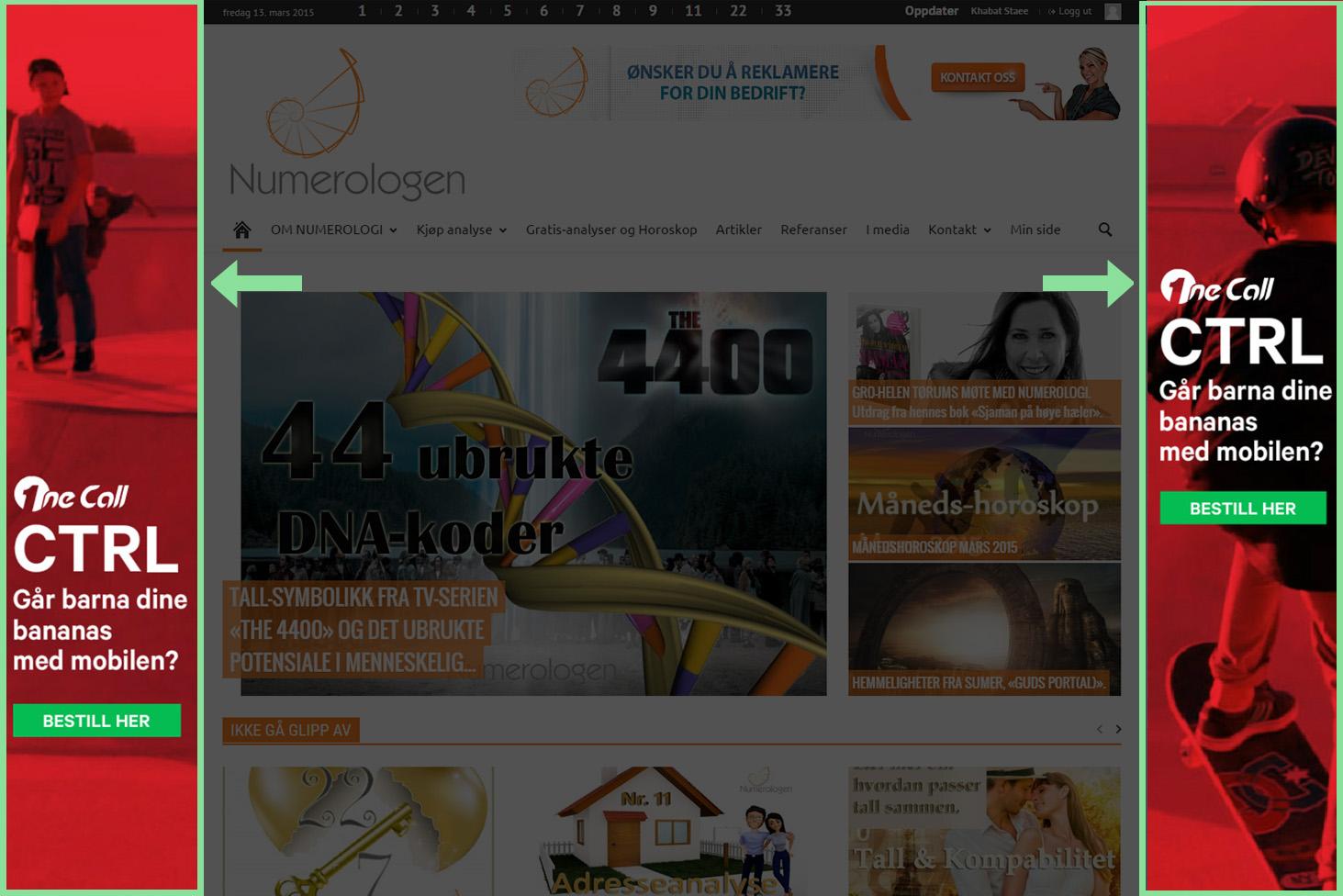 Bakgrunn klikk annonse