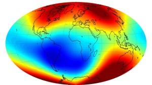 Bilde av jordens magnetisme.