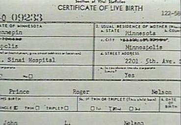 prince fødselsattest